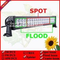 22inch 120W LED Spot Flood Combo Work Light Bar Driving Off Road 4x4 ATV 4WD Lamp