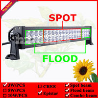 22inch 120W LED Spot Flood Combo Work Light Bar Driving Off Road 4x4 ATV 4WD Lamp