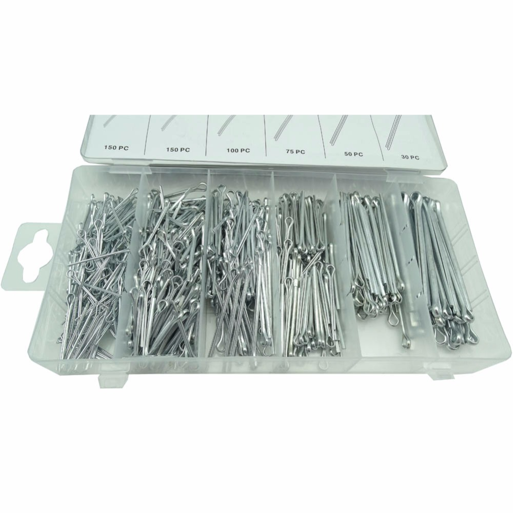 Lowest Price 555pcs 6 Size Cotter Pins Assortment Repair Tool Sets U-shaped Hardware Assortment HW075