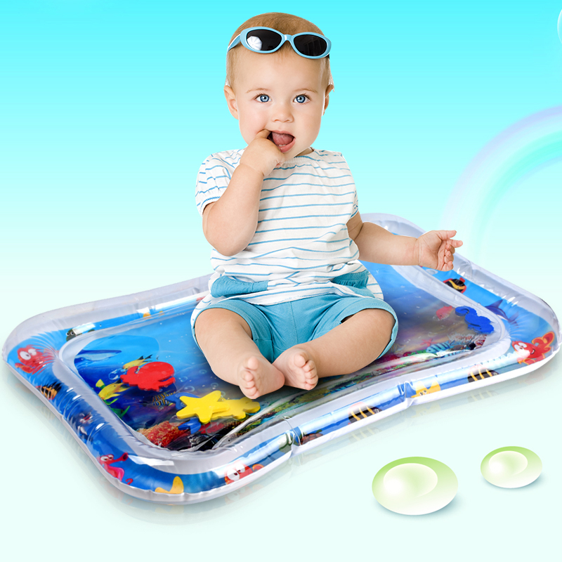 Baby Play Mats Summer Water Mat Toys Dual Use Inflatable Water Cushion Prostrate Patted Pad Toy For Babies Growth Training Toys