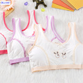 Newest Baby Girls Bra High Quality Cotton Wire Free Padded Children Bra Developmental Teenager Girls Training Bra Vest