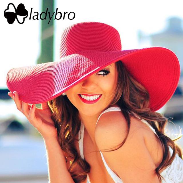 Wide Brim Floppy Straw Sun Hat Beach Women Hat Foldable Summer UV Protect Travel Cap Ladies Casual Cap Female
