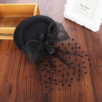 Sara Bowler Hat Fascinator – Black