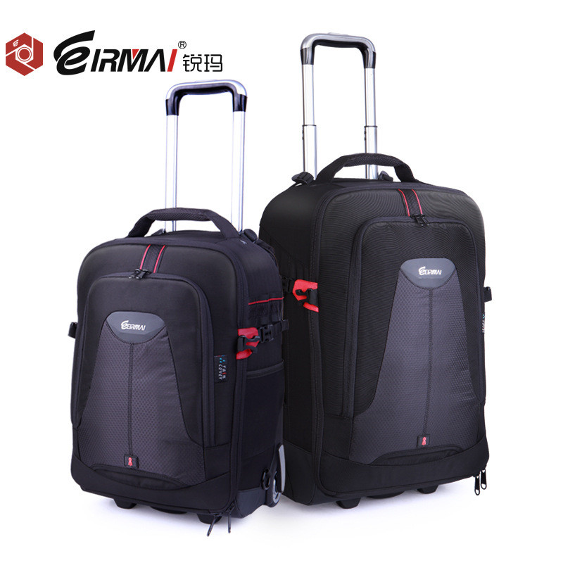 EIRMAI Photo SLR Trolley Case Camera Nylon Bags Big Capacity DSLR Waterproof W/ Rain Cover Backpack Large Space Trolley Case
