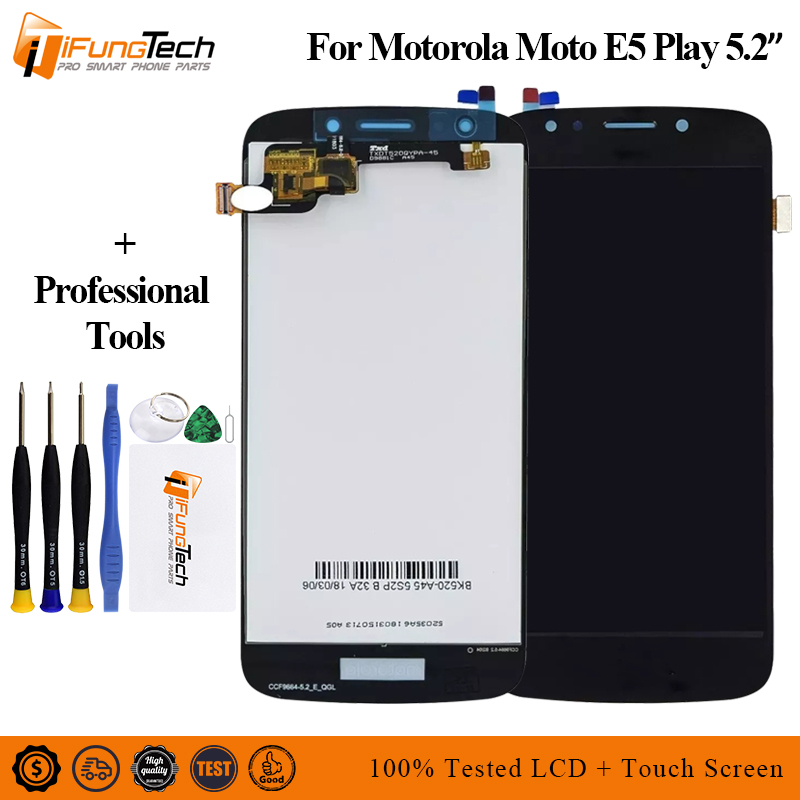 5 2 For Motorola Moto E5 Play LCD Display with Touch Screen Display Assembly For moto