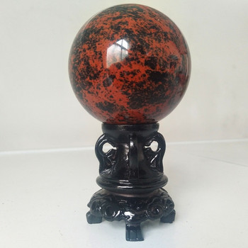 100% Natural stone red obsidian crystal ball home decoration astrologer energy ball chakra feng shui healing ball