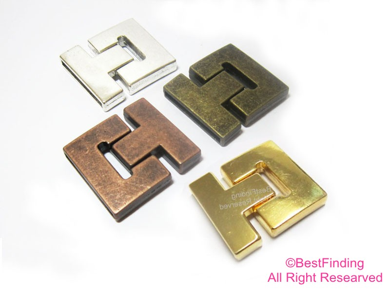 30mm Magnetic Clasp Buckle 30x2mm Strong Magnet Flat Leather Clasps FC73