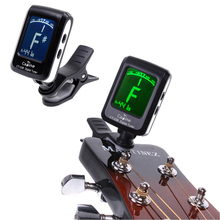 Hor Sell Guitar Tuner LCD Clip-on Electronic Digital Guitar Chromatic Bass Violin Ukulele Tuner Top Quality