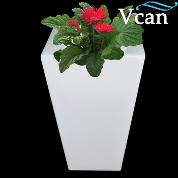 Ricaricabile RGB Esterno Bianco Fioriera Di Plastica Rosso Bianco Giallo Colori Cambiano VC-F3040 Per Garden Pot
