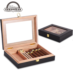 Humidificateur à cigare Portable avec humidificateur avec hygromètre, en bois de cèdre, espagne
