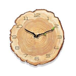 Image 3 - Декоративные винтажные деревянные часы, часы для кафе, офиса, дома, кухни, бесшумные Дизайнерские Большие настенные часы, подарок для дома