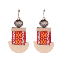 2016 FASHION STUD EARRING KPOP VINTAGE LUXURY FABRIC ETHNIC EARRING FOR WOMEN FEMALE