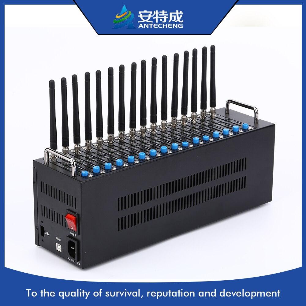 Wholesale 16 Port GSM Bulk SMS Modem Q2403 Modem pool SIM bank box usb wavecom q2403 bulk sms gsm 4 ports modem pool