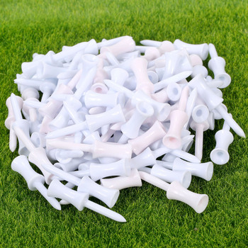 gohantee 100 Pcs 1 Pack Size 54mm Wooden Golf Tees Plastic Wood Set Training Accessories For Golfer Mixed Colors