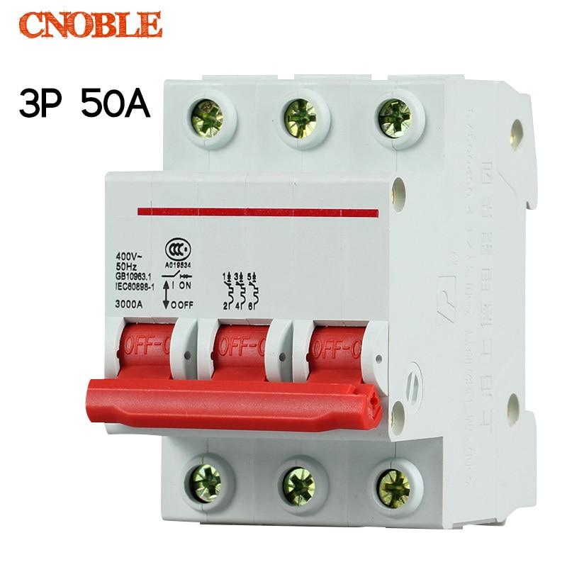 3P 50A 400V~ 50HZ/60HZ Circuit breaker MCB C type overload circuit breaker din rail automatic transfer switch ats 400 amp 3 pole cm1 type moulded case type circuit breaker mccb