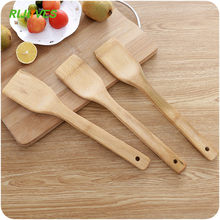 Espátula de madeira de bambu natural, suporte para cozinha, misturador, utensílios de cozinha, jantar, comida, turners, 1 peça
