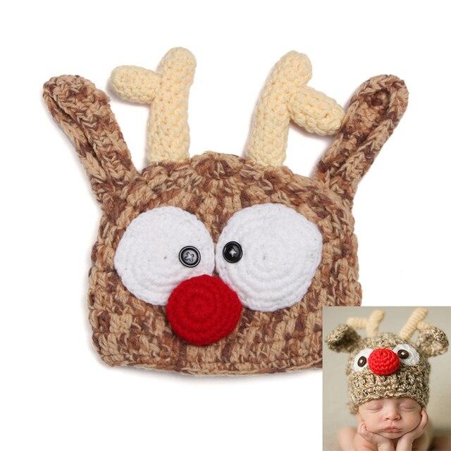 Navidad sombrero del ganchillo gorro, conejo casquillo del invierno ...