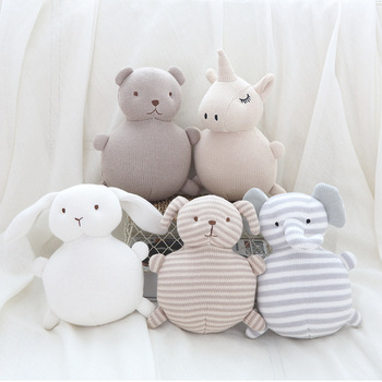18cm Kawaii unicorn stuffed plush toys soft elphant comforting baby plush animal dolls cute rabbit bear plush dolls for baby kid 25cm 35cm 45cm new rabbit plush soft animal stuffed scarf rabbit toys kid s party plush toy bouquet plush dolls toys gift