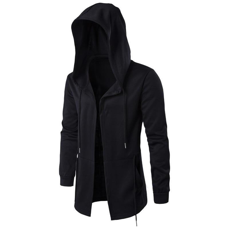 2018 Fashion Men's Coat Hooded Hip Hop Long Sleeve Hoodie Coat Men's Jackets TZY