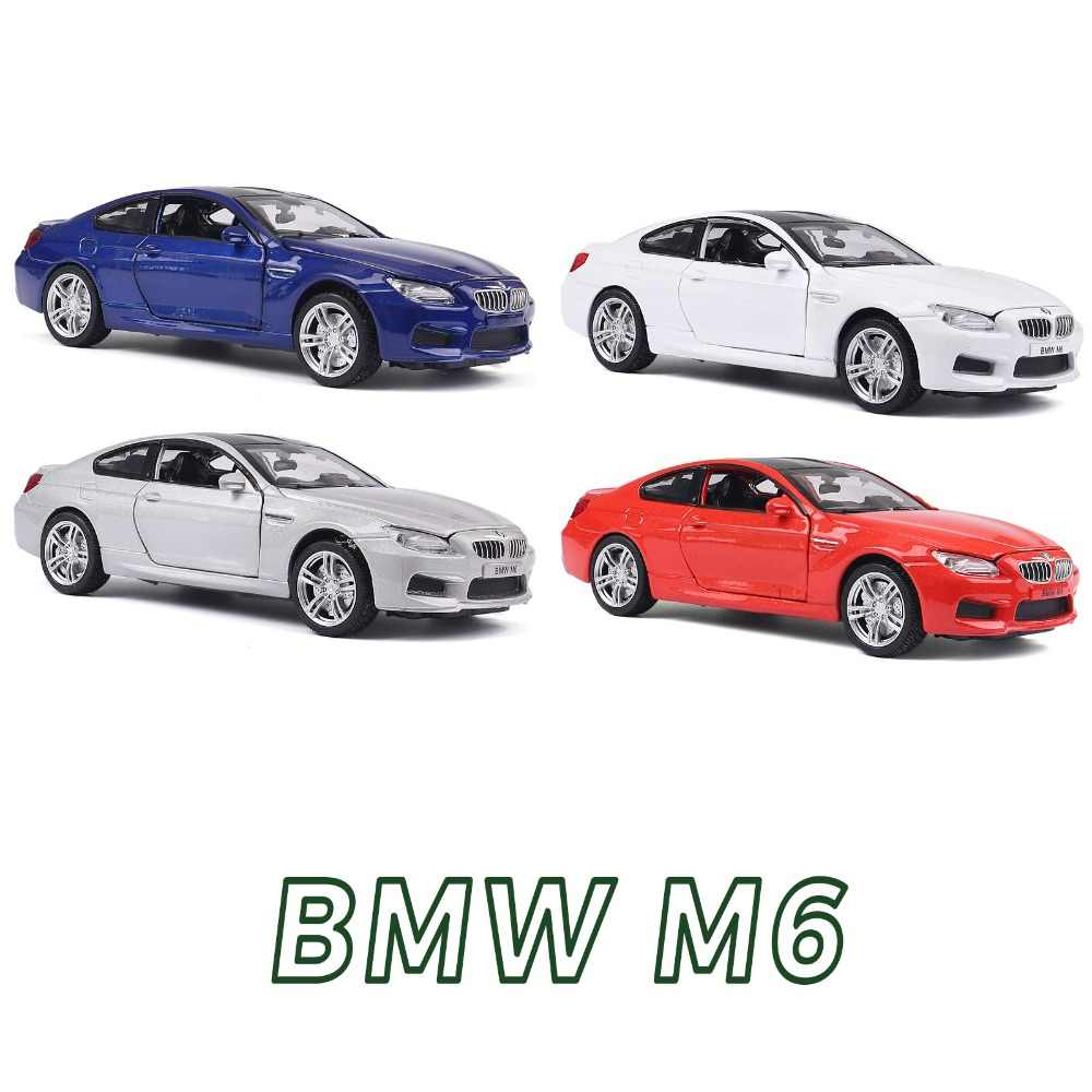 1:32 Scale Diecast Alloy Metal Luxury COUPE Car Model For TheBMW M6 Collection Vehicle Model Pull Back Toys Car With Sound&Light