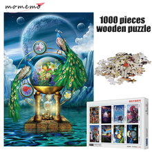 MOMEMO Moonlight Peacock Jigsaw Puzzle 1000 Pieces Adult Entertainment Puzzle Toys Wooden 1000 Pieces Puzzle for Children Gifts цена