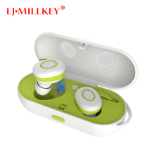 Twins True Wireless Earbuds Mini Bluetooth In-Ear Stereo TWS Wireless Earphones With Charging Case Newest LJ-MILLKEY YZ111