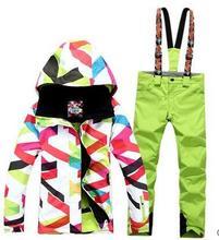 Free shipping waterproof jacket Gsou snow ski suit set womens snowboard jackets mountain ski suit women skiing clothing jacket