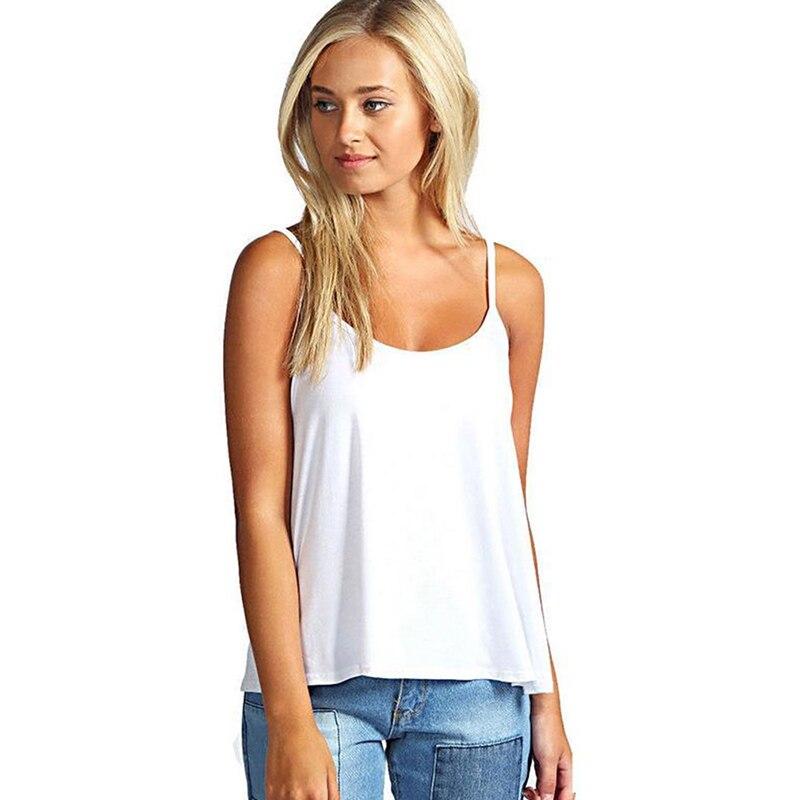 2018 New Tank top Women Summer Casual Camisoles Women's Tops T-shirt Spaghetti Strap Cropped Vest Female Camis Fashion Feminino