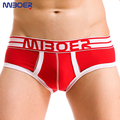 Mens Cotton Briefs Low Waist MIBOER 2016 Fashion U Convex Bag Design Calzoncillos Sexy Hombre Mens Bulge Enhancing Underwear