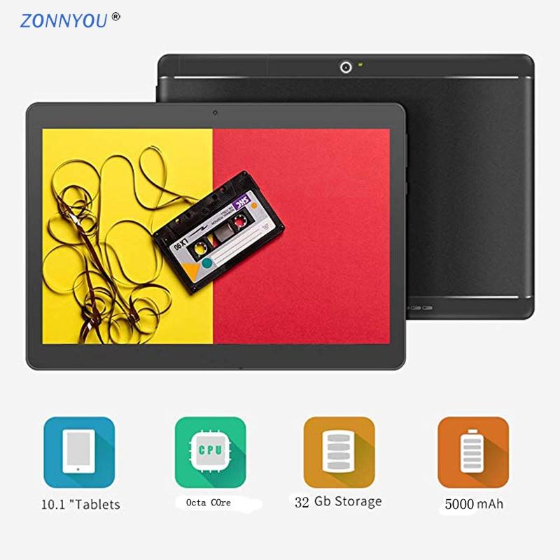2019 nouveau 10.1 pouces tablette PC Android 8.0 3G appel téléphonique Octa Core 4 GB/32 GB double cartes SIM intégré 3G Bluetooth Wi-Fi IPS PC Tab