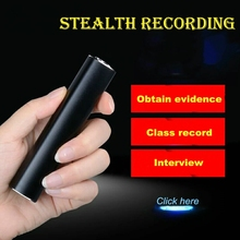 Yescool E180 professional Digital voice Recorder 16GB denoise HD long-distance stereo compact Metal mini Portable REC MP3