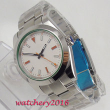39mm Bliger White Dial Sapphire Glass Romantic Sweet gifts Top Brand Automatic Movement mens Watch