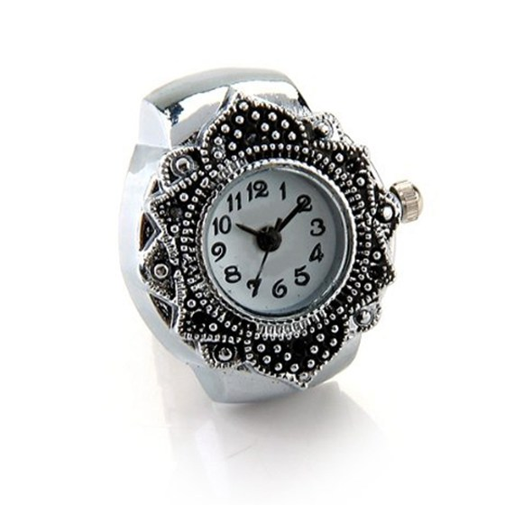 Nrpfell Silver Color Ring Watch For Women Men Lady Finger Ring Watch 0.87 HOT Anillo Relogio Feminino Unique Design Ring Watch ...