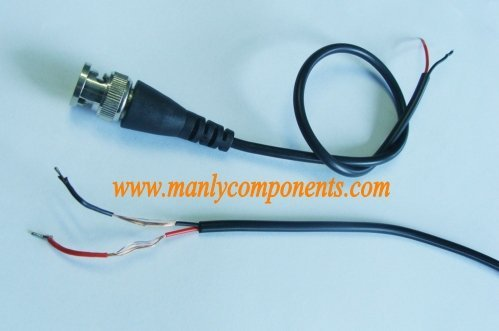 BNC With Wire Cables BNC With Cords Cables 20pcs Brass Braid cable with BNC connector for CCTV