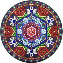Round Flower 5D Special Shaped Diamond Painting Embroidery Needlework Rhinestone Crystal Cross Craft Stitch Kit DIY