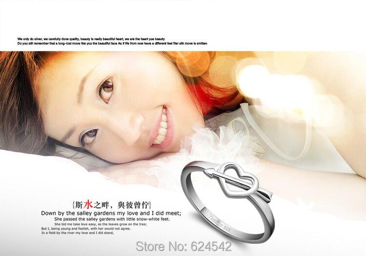 Lady nouvelle arrivée 925 Sterling Argent I LOVE YOU HEART Adapter Ring pour Lady Parti
