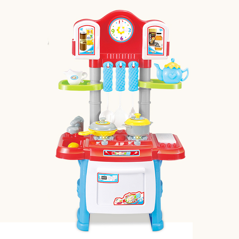 Kitchen Toy Colorful Children Kids Kitchen Cooking Pretend Play Toy Simulation Cooking Toys Sound Toy The Best Gift For Children