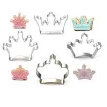 TTLIFE 4 Styles DIY Crown Shape Stainless Steel Cookie Cutter Fondant Biscuit Fruit Vegetable Mold Baking Pastry Tools