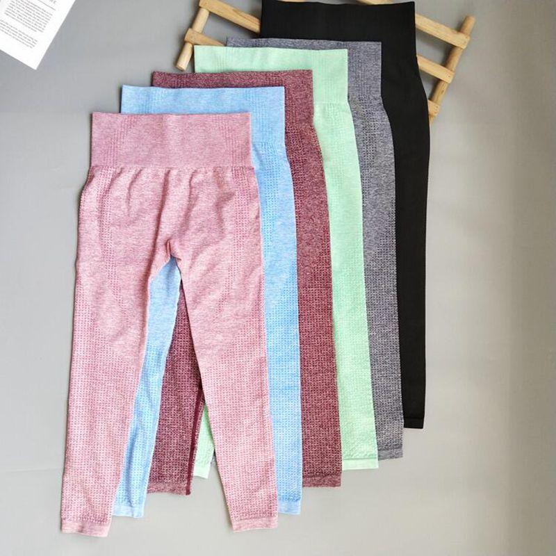 8 cores das mulheres sem costura leggings