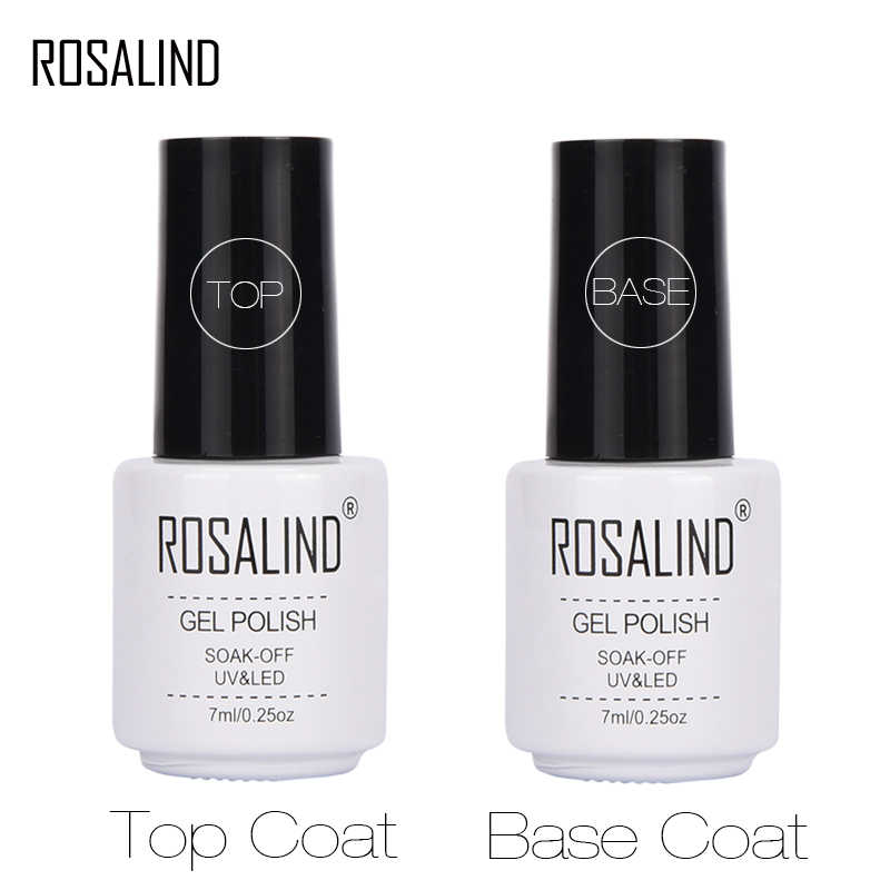 ROSALIND 7 ml Base Top Gel Voor Nagels Primer Gel lak Nagellak Set Semi Permanente Nail Foundation UV LED gel Vernis Geen veeg