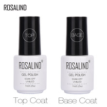 ROSALIND 7Ml Base Top Gel untuk Kuku Primer Gel Lak Kuku Set Semi Permanen Kuku Foundation UV LED gel Varnish Tidak Menghapus(China)