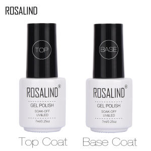 ROSALIND 7ml Base Top Gel For Nails Primer Gel lak Nail Polish Set Semi Permanent Nail Foundation UV LED Gel Varnish No wipe