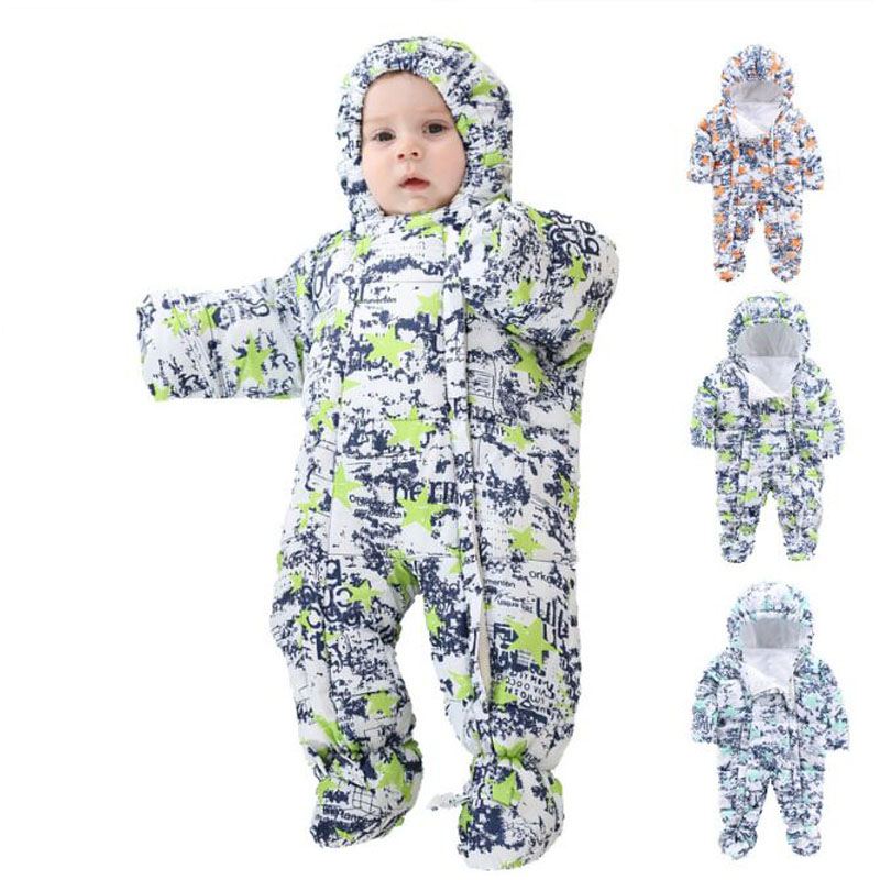 2017 Russian Winter Baby Clothes Boys And Girls Thick Baby Rompers Camouflage Winter Overalls Boy russian phrase book