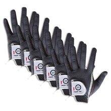 Мужские перчатки для гольфа, для левой руки, для правой руки, 6 шт. в упаковке, мягкий дождевой захват, горячий влажный микро нескользящий Lh Rh размер, подходит XL, большой средний мл, палец десять