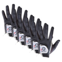 Golf Gloves Men Left Hand Right Value 6 Pack Soft Rain Grip Hot Wet Micro Non slip Lh Rh Size Fit XL Large Medium ML Finger Ten