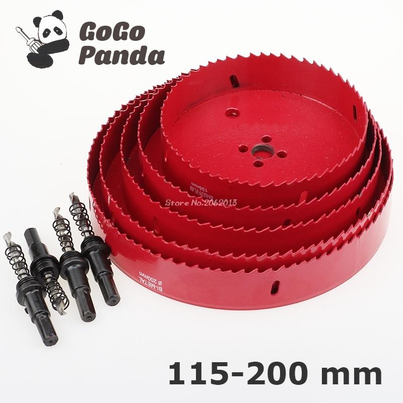 цена на Free Shipping 115mm-200mm Bi-Metal Wood Hole Saws Bit for Woodworking DIY Wood Cutter Drill Bit Big Size