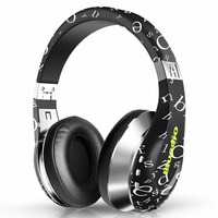 Black Fashionable 3D Surround Sound Wireless Wire Bluetooth Headphones With Microphone HD Diaphragm Twistable Headband Headset