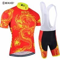 Bxio Cycling Cloth Sets Summer Ropa Ciclismo Dragon Quick drying Cycling Jersey Set Breathable Ropa De Ciclismo Sportwear 023