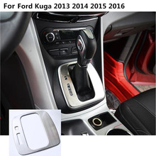 car stick Stainless steel middle front Shift Stall Paddle cup lamp frame trim 1pcs For Ford Kuga 2013 2014 2015 2016