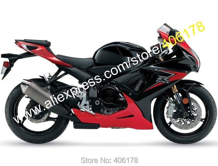 Горячие продаж,для Suzuki системы GSX-r600 о/К11 750 GSXR 600 GSXR 750 2011/2012/2013/2014 красный черный мотоцикл обтекатель комплект (литья под давлением)